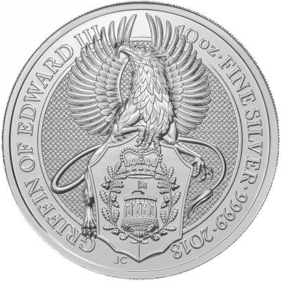 Stříbrná mince The Griffin 10 Oz