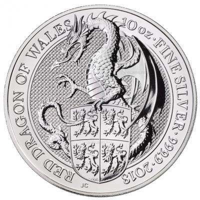 Stříbrná mince The Dragon 10 Oz