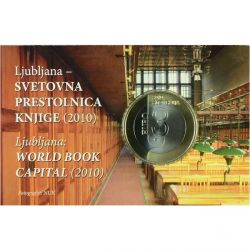 3 EUR Mince Ljubljana - World Book Capital (v blistru)